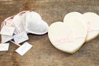 cartas de amor decorando