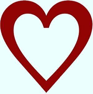 corazon para colorear imágenes de amor