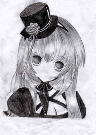 dibujos anime lapiz 3