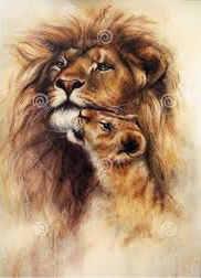 imagenes de leones enamorados
