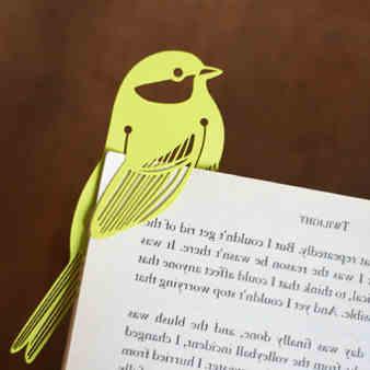 separadores parar libros de amor pajaro